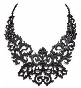 Beautiful Black Lace Look Tattoo Look Prom Fashion Collar Bib Choker Necklace