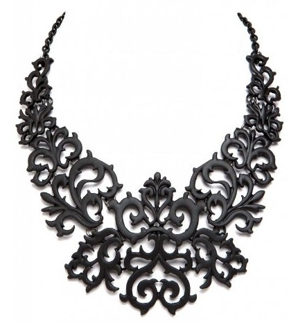 Beautiful Black Lace Look Tattoo Look Prom Fashion Collar Bib Choker Necklace