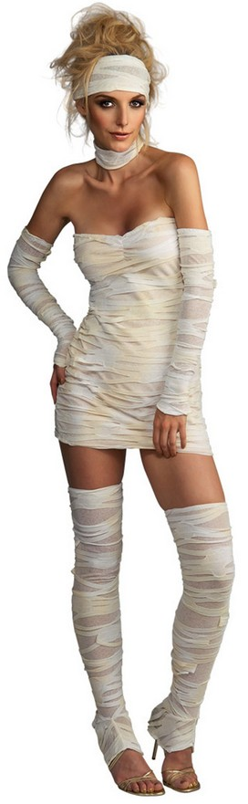 Sexy Mummy Costume Tube Mini Dress