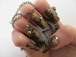 Steampunk Halloween Fingernail Ideas