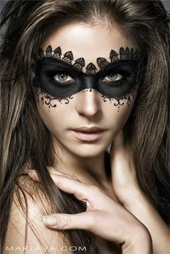 Sexy Halloween Eye Makeup Mask Idea