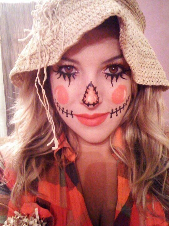 Cute Scarecrow Makeup