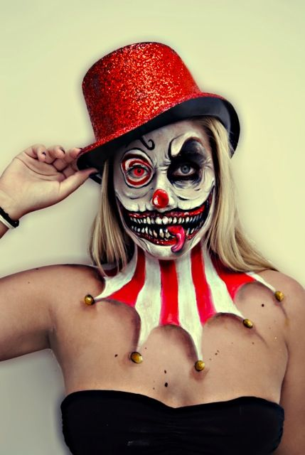 Crazy Circus Clown Skull Clown Makeup Idea