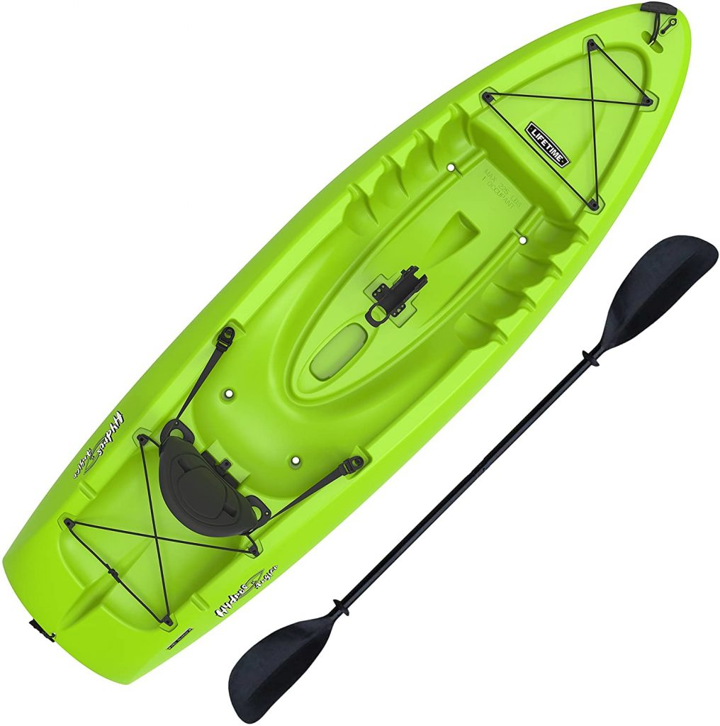 An adult version - the Lifetime Hydros Angler 85 Fishing Kayak