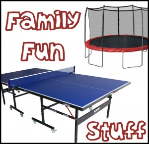 Family Fun Stuff - trampolines - ping pong table tennis
